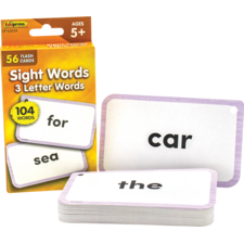 Sight Words Flash Cards - 3 Letter Words