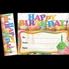 Happy Birthday Cupcakes Bookmark Awards