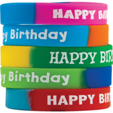 Fancy Happy Birthday Wristbands