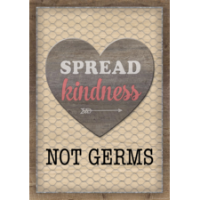 Spread Kindness Not Germs Positive Poster