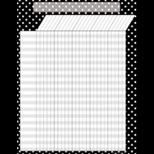 Black Polka Dots Incentive Chart