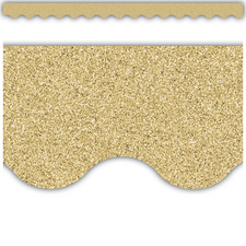 Gold Glitz Scalloped Border Trim