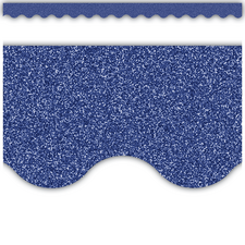 Dark Blue Glitz Scalloped Border Trim