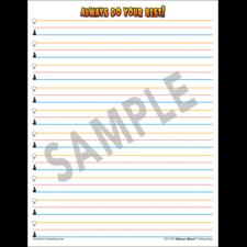 Superhero Smart Start 1-2 Writing Paper: 100 Sheets