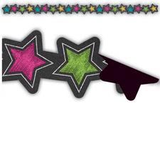 Chalkboard Brights Stars Magnetic Border