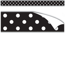 Clingy Thingies Black Polka Dots Strips