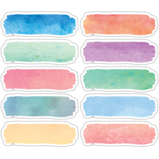 Watercolor Labels Magnetic Accents
