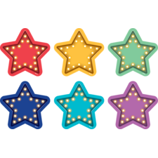 Spot On Floor Markers Marquee Stars - 4""