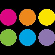"Spot On Dry-Erase Desktop Writing Spots Bright Circles - 10-1/2"""