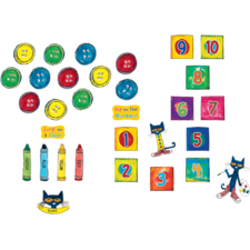 Pete the Cat Numbers and Colors Sensory Path