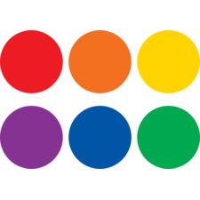 "Spot On Dry Erase Desktop Writing Spots Colorful Circles 4"""