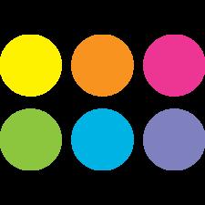 "Spot On Dry Erase Desktop Writing Spots Bright Circles 7"""
