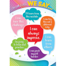 In Our Class, We Say... Positive Poster