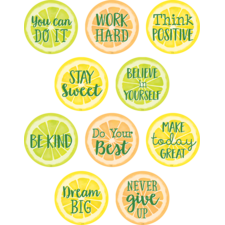 Lemon Zest Positive Sayings Accents