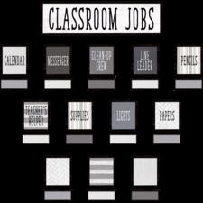 Modern Farmhouse Classroom Jobs Mini Bulletin Board