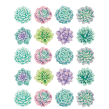 Rustic Bloom Succulents Stickers