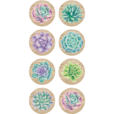 Rustic Bloom Succulents Mini Stickers