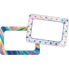 Iridescent Name Tags/Labels