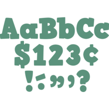 "Eucalyptus Green 4"" Bold Block Letters Combo Pack"