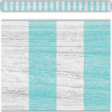 Vintage Blue Stripes Straight Border Trim