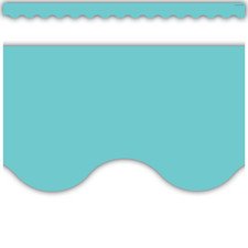 Light Turquoise Scalloped Border Trim