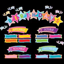 Colorful Vibes Birthdays Mini Bulletin Board