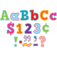 "Colorful Vibes Bold Block 4"" Letters Combo Pack"