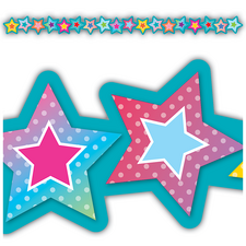 Colorful Vibes Stars Die-Cut Border Trim