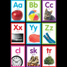 Colorful Photo Alphabet Cards Bulletin Board