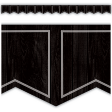 Modern Farmhouse Black Pennants Die-Cut Border Trim