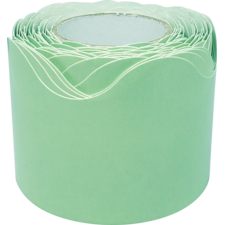 Mint Green Scalloped Rolled Border Trim