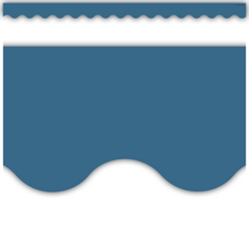 Slate Blue Scalloped Border Trim