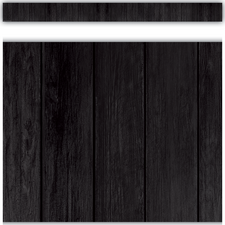Black Wood Straight Border Trim