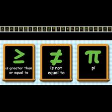 Math Symbols Chalkboard Topper