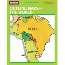 Outline Maps: The World Reproducible Workbook