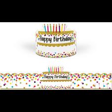 Confetti Happy Birthday Crowns