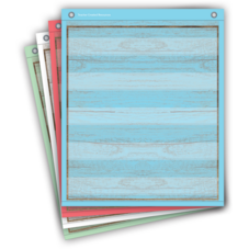 Painted Wood Magnetic Mini Pocket Charts