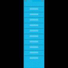 Aqua Polka Dots 10 Pocket File Storage Pocket Chart