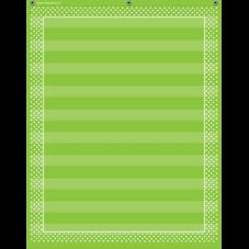 Lime Polka Dots 10 Pocket Chart
