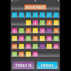 Black Calendar Pocket Chart