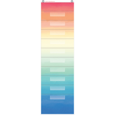 Watercolor 10 Pocket File Storage Pocket Chart