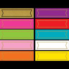 Colorful Gold Shimmer Labels