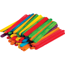 STEM Basics: Multicolor Craft Sticks - 250 Count