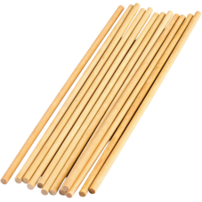 "STEM Basics:  1/4"" Wooden Dowels - 12 Count"