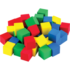 "STEM Basics: Multicolor 3/4"" Foam Cubes - 40 Count"