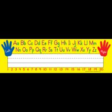 Left/Right Alphabet Flat Name Plates
