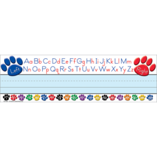 Paw Prints Left/Right Alphabet Flat Name Plates