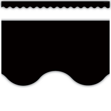 Black Scalloped Border Trim