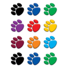 Colorful Paw Prints Mini Accents