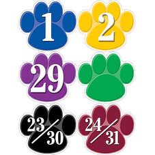 Colorful Paw Prints Calendar Days